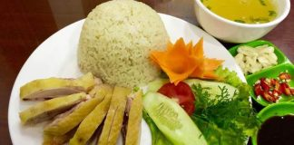 Cơm gà Hải Nam du lịch Singapore